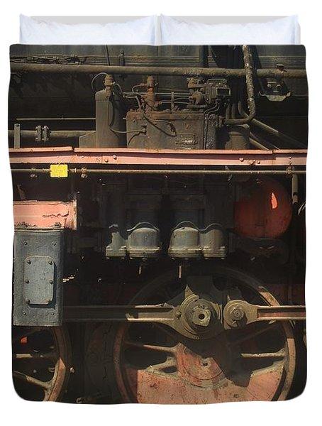 Old  Steam Train ...france Duvet Cover
