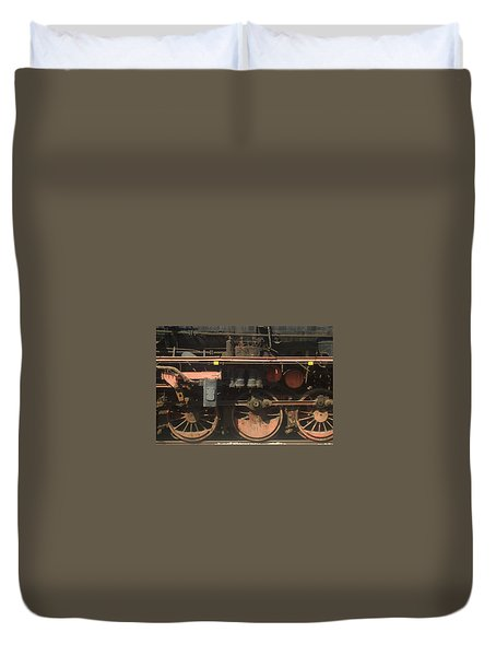 Old  Steam Train ...france Duvet Cover