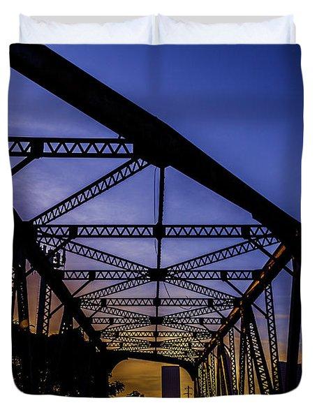 Old Steel Bridge Duvet Cover