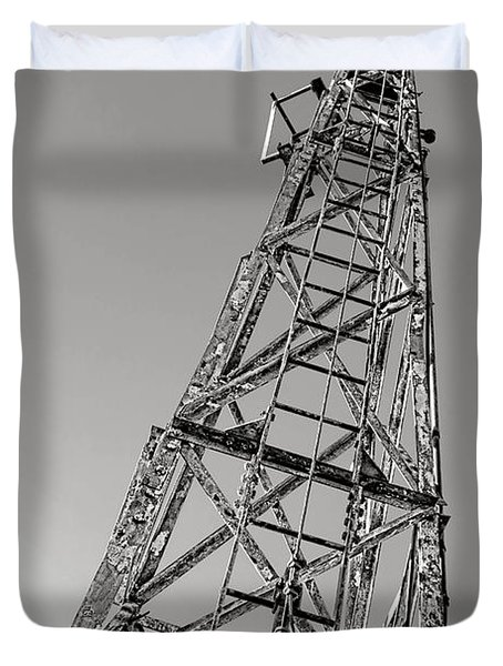 Old Steel Tower Duvet Cover
