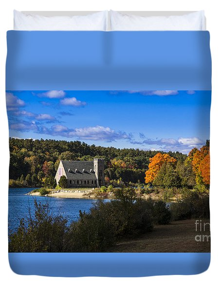Old Stone Church. West Boylston, Massachusetts. Duvet Cover