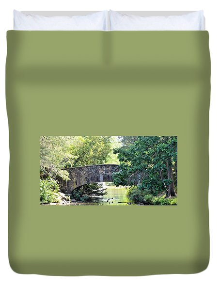 Old Stone Walkway Duvet Cover