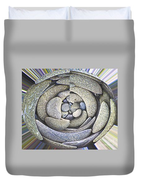 Duvet Cover featuring the photograph Old Stoney by Nareeta Martin