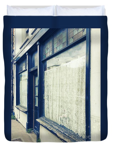 Old Store Front Duvet Cover