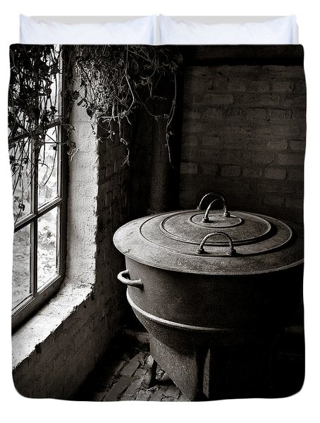 Old Stove Duvet Cover by Dave Bowman