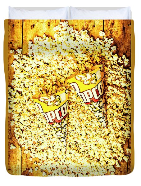 Old Style Popcorn Cones  Duvet Cover