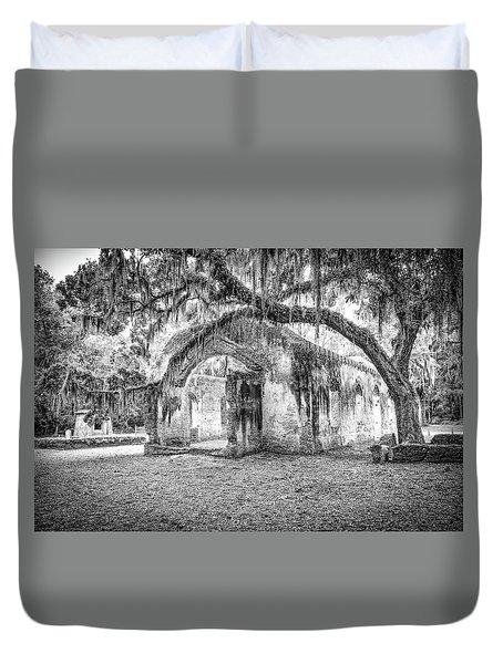 Old Tabby Church Duvet Cover by Scott Hansen