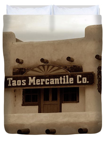 Old Taos Duvet Cover by David Lee Thompson