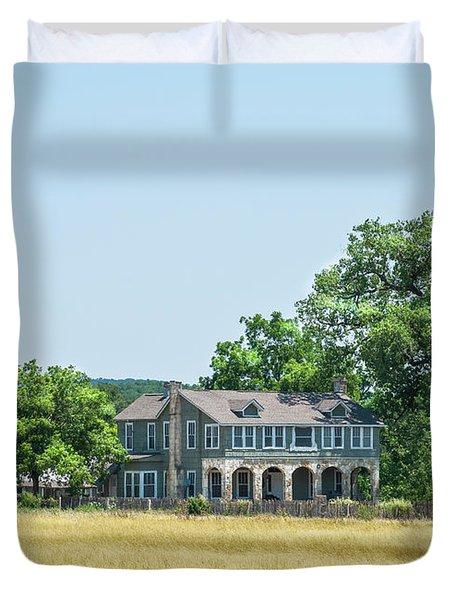 Old Texas Farm House Duvet Cover