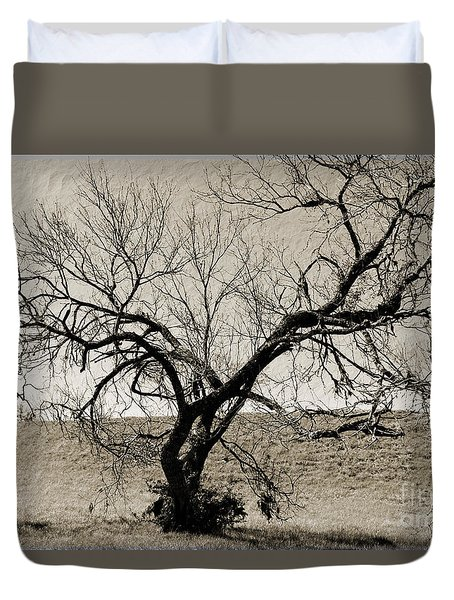 Old Texas Frontier  Duvet Cover by Ray Shrewsberry