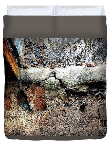 Old Threshold Paint Duvet Cover