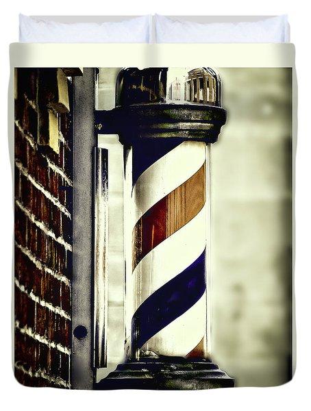 Old Time Barber Pole Duvet Cover