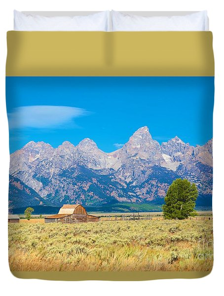 Old Time Community Duvet Cover by Robert Pearson