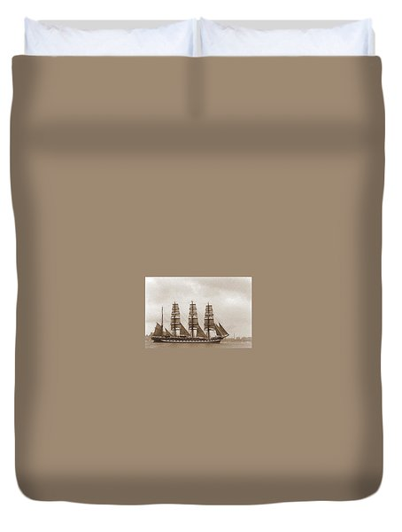 Old Time Schooner Duvet Cover