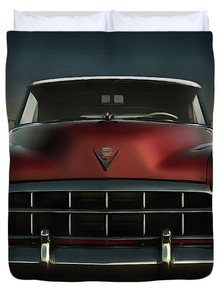 Old-timer Cadillac Convertible Duvet Cover