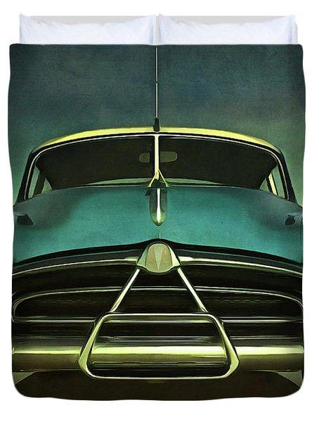 Old-timer Hudson Hornet Duvet Cover