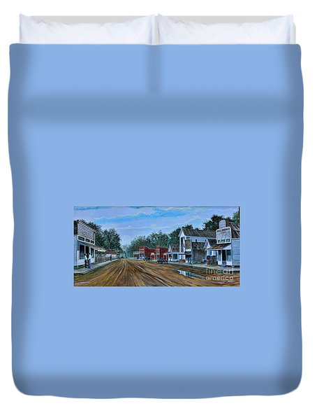 Old Town Breaux Bridge La Duvet Cover