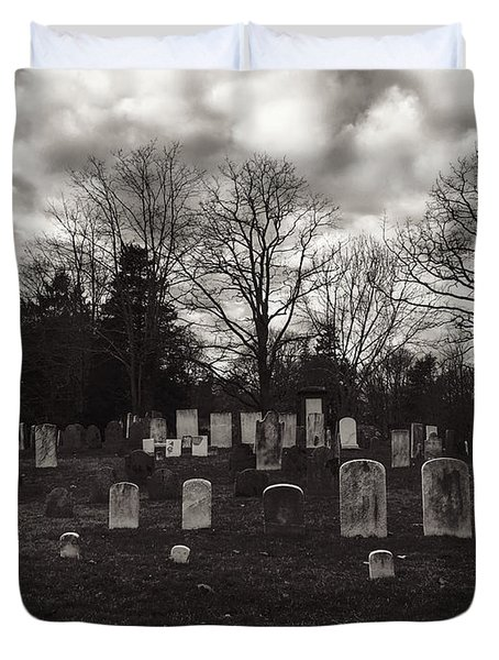 Old Town Cemetery , Sandwich Massachusetts  Duvet Cover