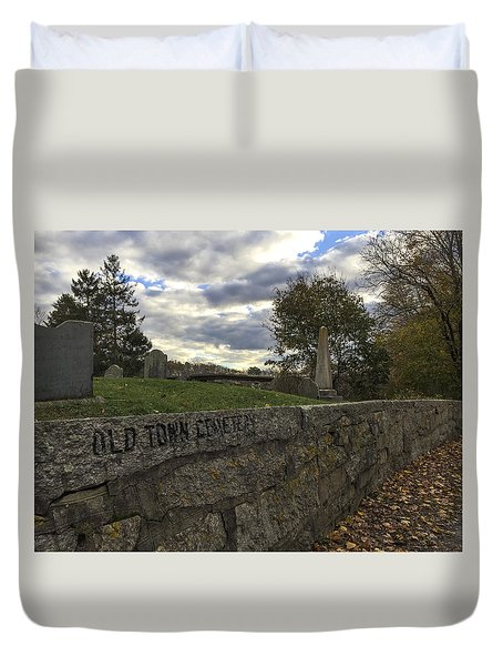 Old Town Cemetery Duvet Cover