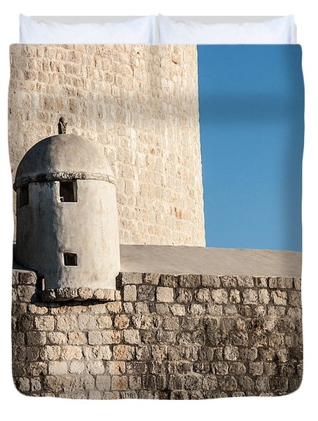 Duvet Cover featuring the photograph Old Town Dubrovnik by Silvia Bruno