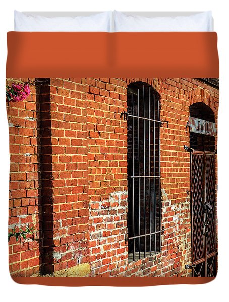 Duvet Cover featuring the photograph Old Town Jail by Doug Camara