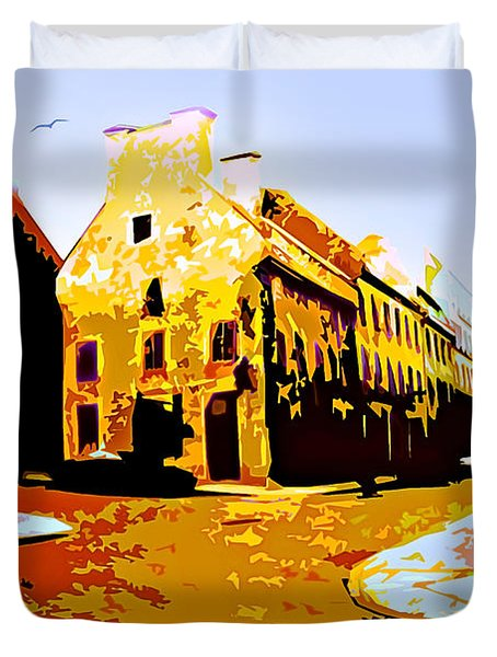 Old Town Montreal Duvet Cover