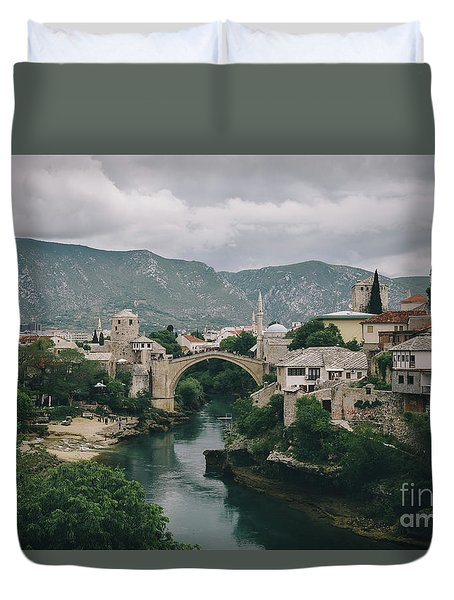 Old Town Of Mostar Duvet Cover