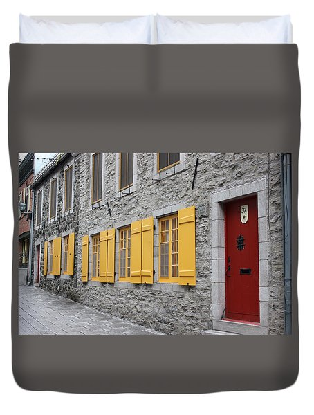 Old Town Quebec Duvet Cover by Jewels Blake Hamrick