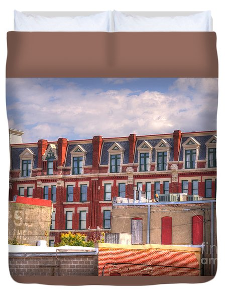 Old Town Wichita Kansas Duvet Cover by Juli Scalzi