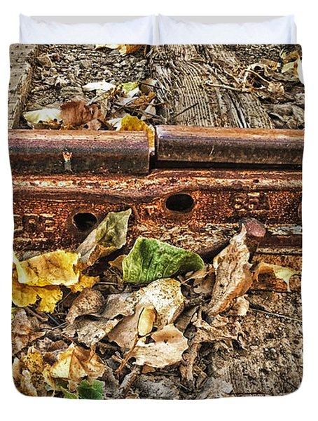 Old Tracks Duvet Cover