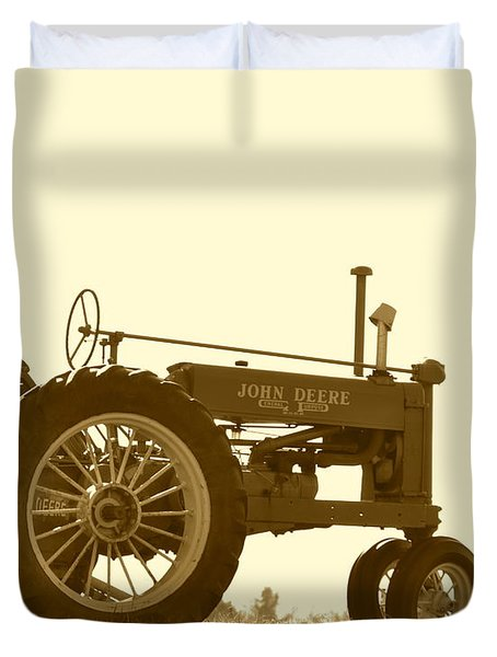 Old Tractor IIi In Sepia Duvet Cover