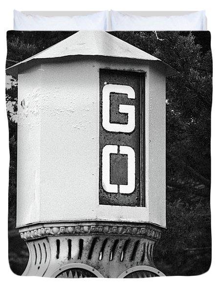 Old Traffic Light Duvet Cover