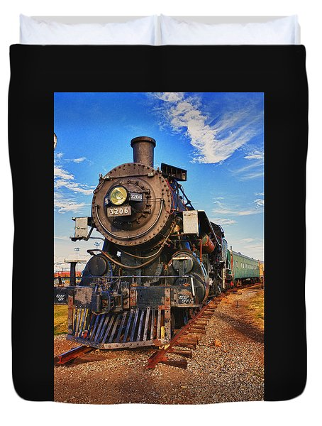 Old Train Duvet Cover by Garry Gay