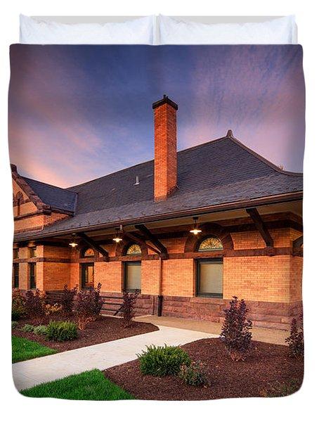 Old Train Station Duvet Cover