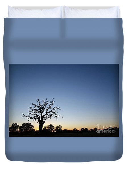 Old Tree Silhouette Duvet Cover
