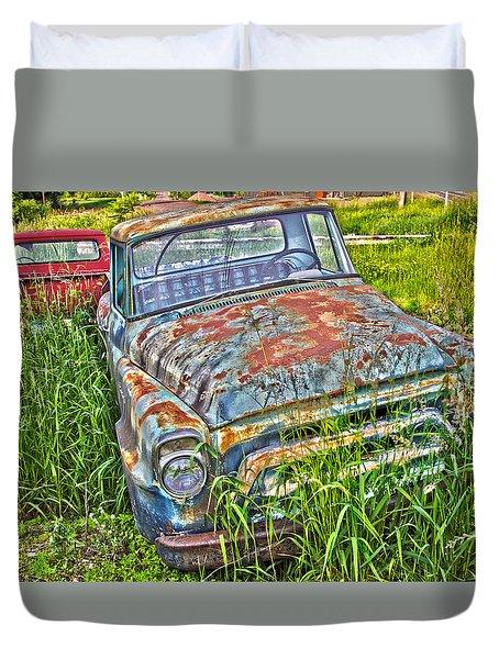 Old Trucks Duvet Cover