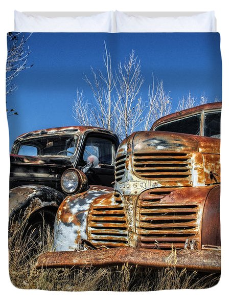 Old Trucks Duvet Cover