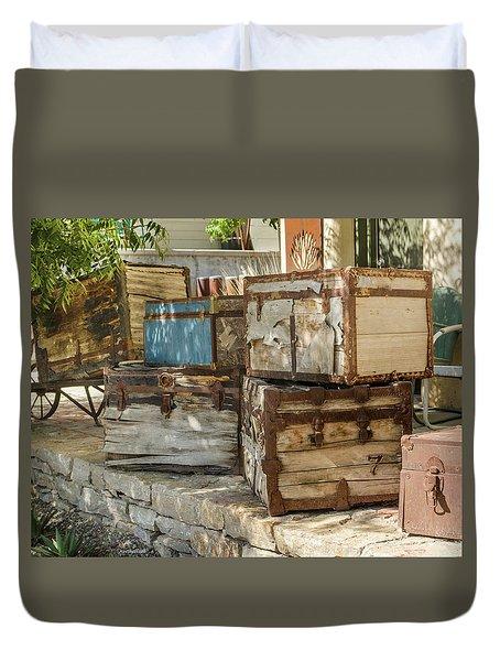 Old Trunks Duvet Cover