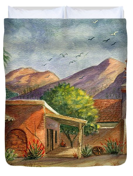 Old Tucson Duvet Cover