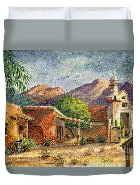 Old Tucson Duvet Cover