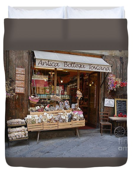 Old Tuscan Deli Duvet Cover