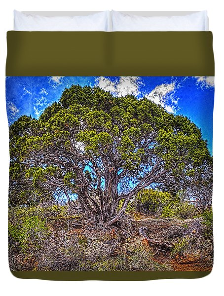 Old Utah Juniper Duvet Cover