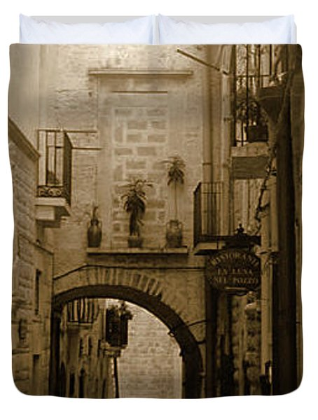 Old Village Street Duvet Cover
