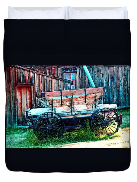 old Wagon In Bodie Duvet Cover