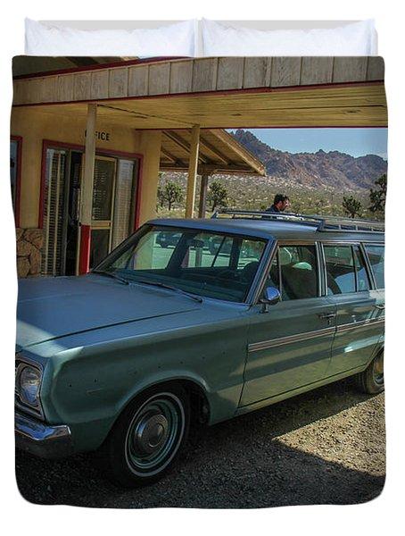 Old Wagon Duvet Cover by Robert Hebert