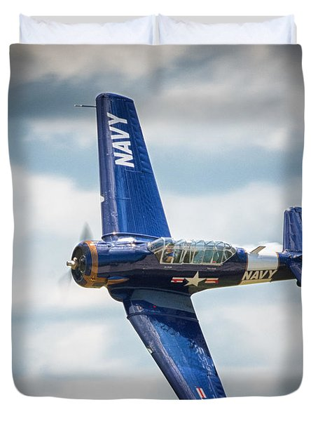 Old Warbird Trainer Duvet Cover