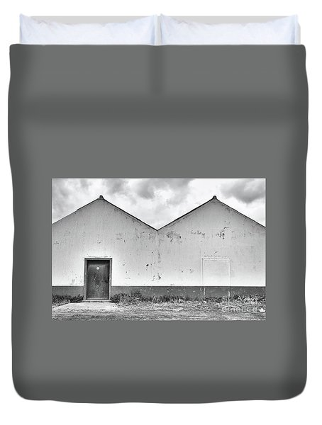 Old Warehouse Exterior Duvet Cover