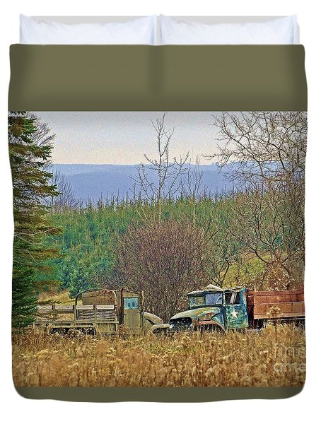 Duvet Cover featuring the photograph Old Warriors by Christian Mattison
