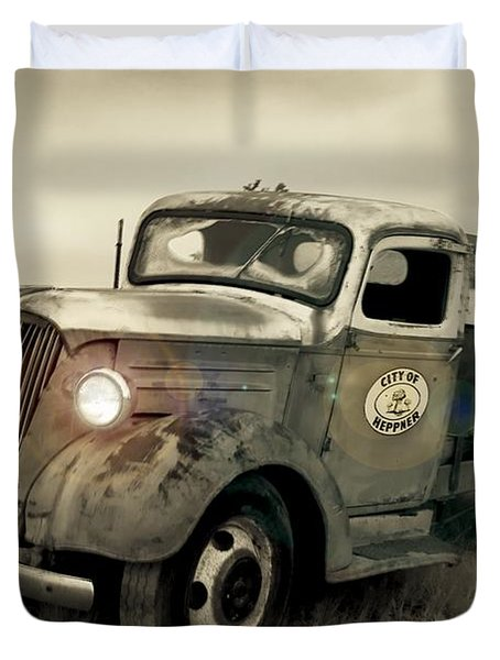 Old Water Truck Duvet Cover