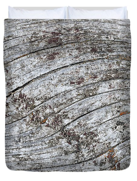 Old Weathered Wood Abstract Duvet Cover